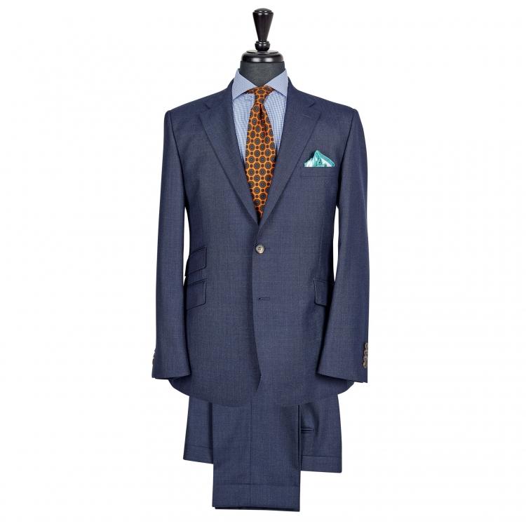 SSM7 - Costume 2 pièces bleu marine - 100% laine légère 240g/m² Vitale Barberis Canonico
