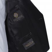 SSM ESQ. / 006 - DIAMOND BLACK (SATIN PEAK LAPEL) TUXEDO SUIT