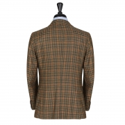 SSM11 – PATTERNED GUNCLUB SPORTS SINGLE BREASTED JACKET – ALASHAN CASHMERE 290 – 310 GR/MT 100% PIACENZA CASHMERE