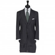 SSM9 – SOLID DARK GREY SINGLE BREASTED 2 PIECE SUIT – ALL SEASON 260 GR/MT 100% LORO PIANA SUPER 130's WOOL