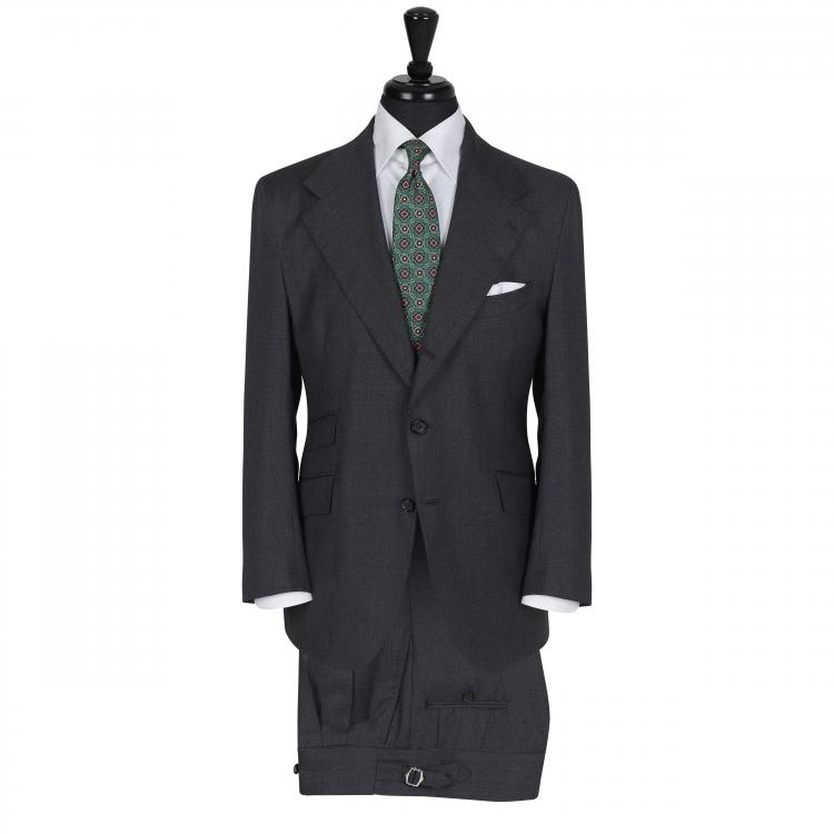 SSM9 - Costume droit 2 pièces gris foncé - 100% laine Loro Piana Super 130 quatre saisons 260g/m