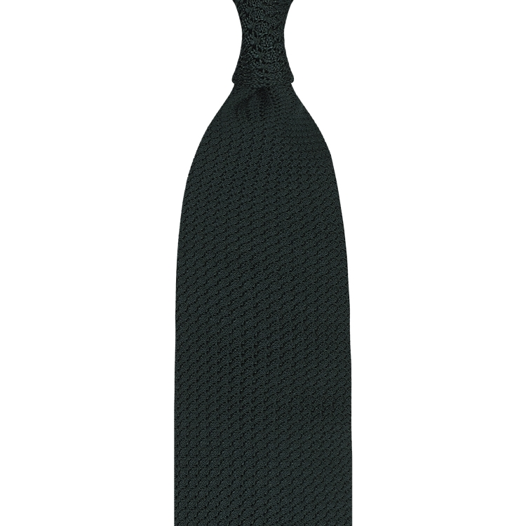 FOREST GREEN GARZA GROSSA GRENADINE HANDROLLED TIE
