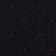 CLASSIC POLKA DOT SILK GRENADINE SHANTUNG TIE – NAVY/RED