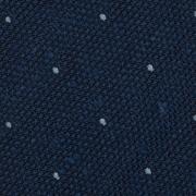 CLASSIC POLKA DOT SILK GRENADINE SHANTUNG TIE – ROYAL / SKY BLUE