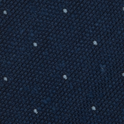 cravate à pois en grenadine de soie bleu royal et bleu ciel