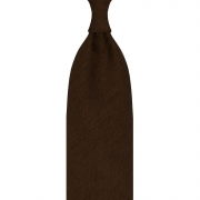 SOLID BROWN SILK SHANTUNG TIE