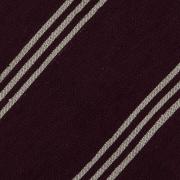 TRIPLE STRIPE SHANTUNG GRENADINE HANDROLLED TIE – BURGUNDY / BEIGE STRIPE