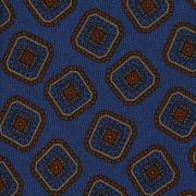 MULTI DIAMOND HANDPRINTED TWILL SILK TIE – EMERALD BLUE