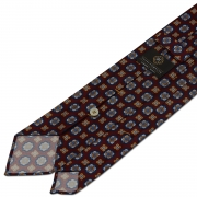 FLORAL PATTERN TWILL SILK TIE – RED