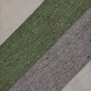 DONEGAL TRIPLE BLOCK STRIPE SILK/LINEN/COTTON – IVORY / GREEN / GREY