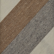 DONEGAL TRIPLE BLOCK STRIPE SILK/LINEN/COTTON – IVORY / CAMEL BROWN / GREY
