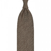 CLASSIC UNTIPPED TUSSAH SILK TIE – BROWN / WHITE SPECKS