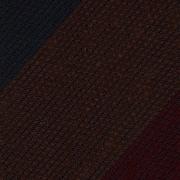 BLOCK STRIPE SHANTUNG GRENADINE TIE – BROWN / BURGUNDY / NAVY