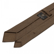 WOOL CAPPUCCINO HOUNDSTOOTH 100% UNTIPPED TIE