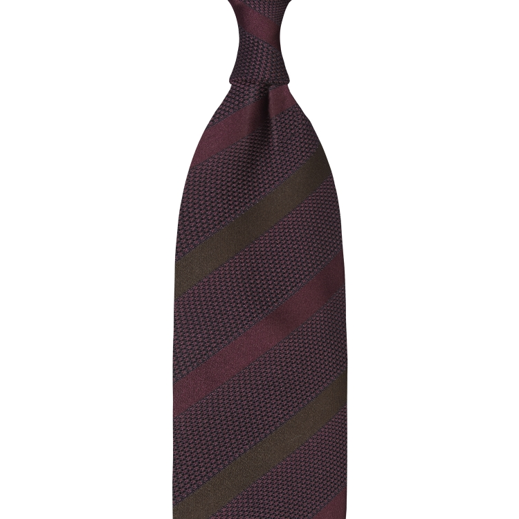 MIX STRIPE GARZA FINA GRENADINE HANDROLLED TIE