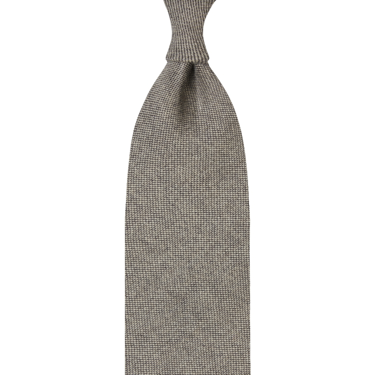LIGHT BROWN CASHMERE TIE