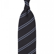 CLASSIC STRIPED GARZA GROSSA GRENADINE TIE – NAVY / SKY BLUE