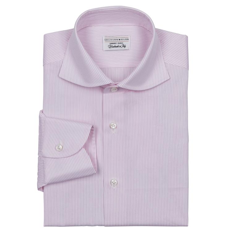 Classic bengal stripe cut-away (Banane shaped) collar shirt