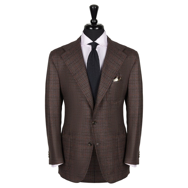 SSM17 – Single-breasted houndstooth patterned sport jacket - 100% Caccioppoli Wool - Autumn/Winter - MADE IN NAPLES
