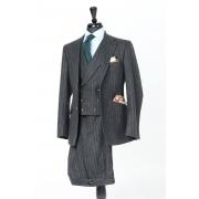 Dark Grey Chalk Stripe 3-piece Suit