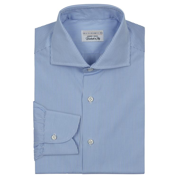 Classic semi-spread collar shirt