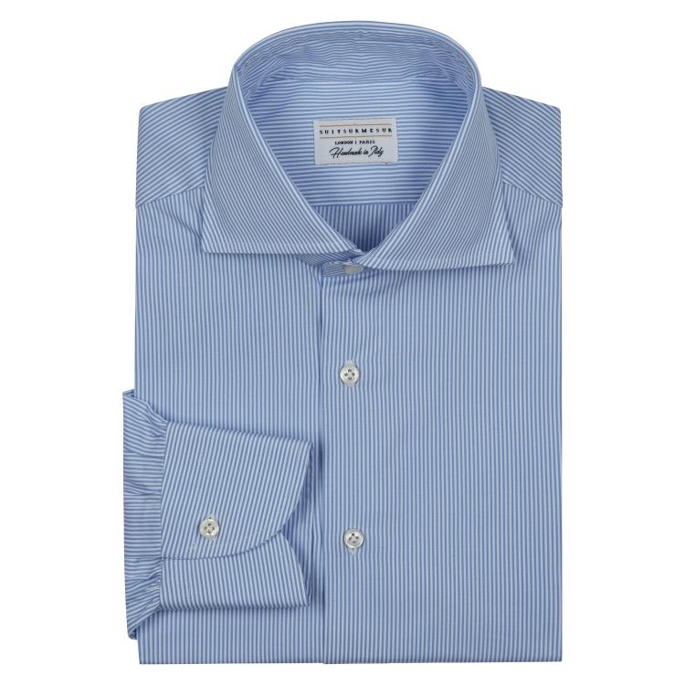 Classic Semi-Spread (L – Shaped) Collar Shirt - Bengal Stripe