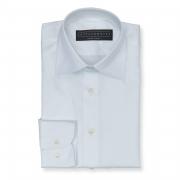 Solid white (half Italian collar) Oxford shirt - 100% cotton Albini 1876 fabric