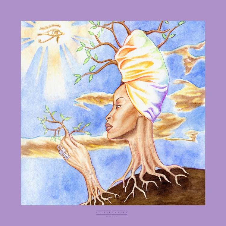 THE ERYKAH TREE - Echarpe femme avec bords roulés à la main