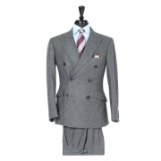 Dark Grey Glen Check 3-piece Suit