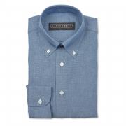Chambray (OCBD) dress shirt – 100% cotton Canclini fabric
