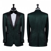 SSM Esq. / 007 – EMERALD CROCODILE SKIN (SATIN PEAK LAPEL) TUXEDO SUIT