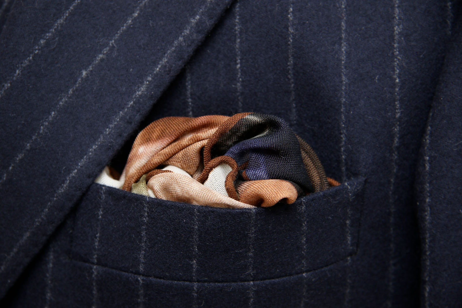 close up view of a pocket square